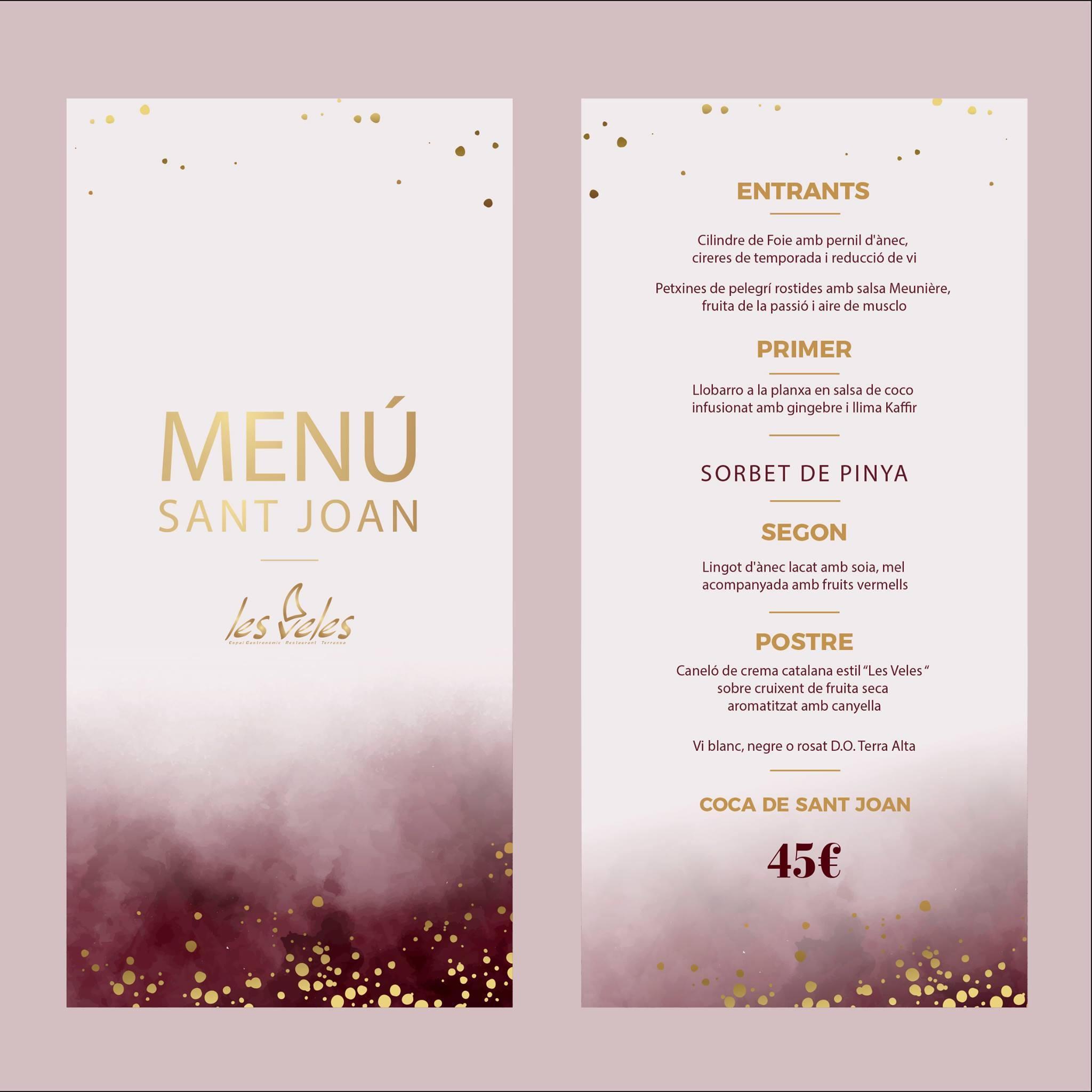 menu san juan Les Veles
